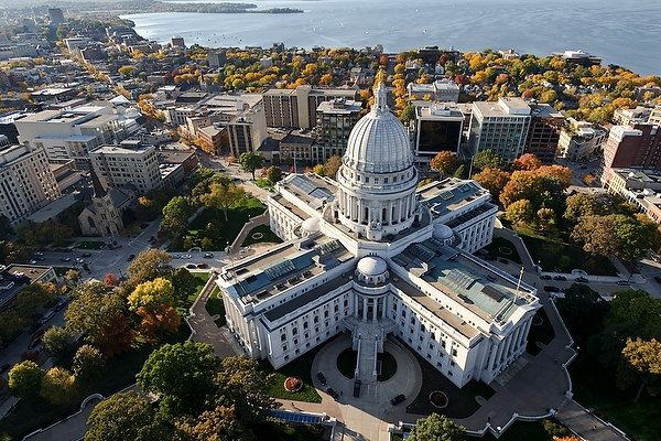 Wisconsin State Capitol Aerial